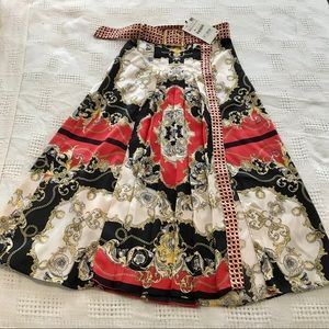 Zara mid length skirt with belt